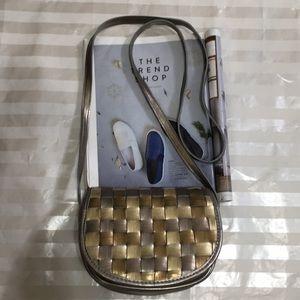Handbags - Sliver+Gold Crossbody Bag